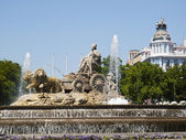Cibeles Fountain, Madrid — 图库照片