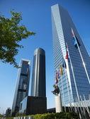 Cuatro Torres Business Area in Madrid — Stock Photo