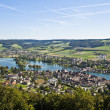 Stock Photo: Aerial view of Stein Am Rheim village