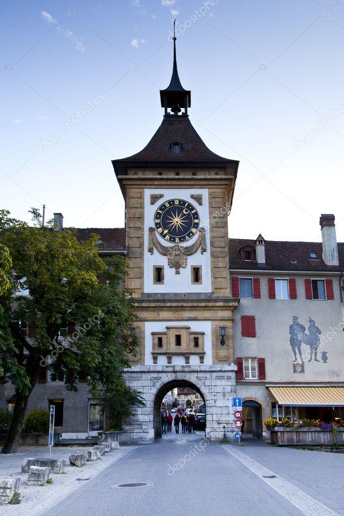 Murten Switzerland  city images : depositphotos 6639452 Clock tower in murten switzerland