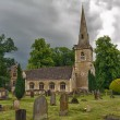 St Mary's Church with graveyard in Cotswolds, Lower Slaughter, UK — Stock Photo