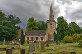 St mary kilise ile mezarlık cotswolds, alt kesim, İngiltere — Stok fotoğraf