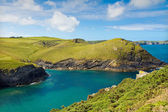 Cove near Port Quin with deep blue sea, Cornwall with deep blue see, UK — Stock Photo