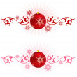 Royalty-Free Stock Vector Image: Holiday background with Christmas Ornament and snowflakes