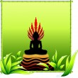 Buddha Statue - Stock Vector