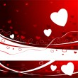 Red Valentine's day Background — Stockvectorbeeld