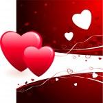 Romantic hearts Valentine's Day design background — Stock Vector #6029043