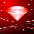 Royalty-Free Stock Vektorfiler: Diamond Valentine\'s Day design background