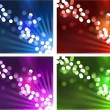 Stock Vector: Defocused lights design background