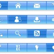 Stock Vector: Blue Bar Internet Icons
