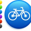 Bicycle icon on round internet button — Stock Vector #6029159