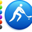 Hockey icon on round internet button — Stock Vector #6029510