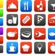 Food and drink icon collection - Stok Vektör