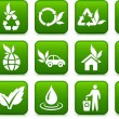 Greener environment icon collection — Stok Vektör