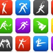 Competative and olympic sports icon collection - Stock Vector