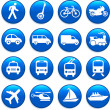 Transportation icons design elements — Stock Vector #6029579