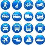 Transportation icons design elements — Stock Vector #6029579
