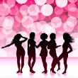 Sexy girls design background — Stock Vector