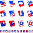 Patriotic icon set — Stock Vector