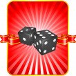 Stock Vector: Black Dice on Background