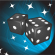 Black Dice on Background — Stock Vector