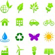Environment elements icon set — Stock Vector