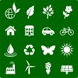 Environment elements icon set - Stock Vector