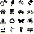 Stock Vector: Environment elements icon set