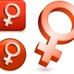 symbole płci żeńskiej — Wektor stockowy