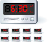 Alarm Clock Set — Stockvektor