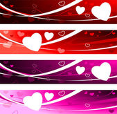 Valentine's day Love Banners — Stock Vector