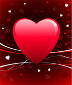 Romantic hearts Valentine's Day design background — Vector de stock
