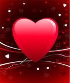Romantic hearts Valentine's Day design background — Stock vektor