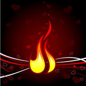 Flame of love Valentine's Day background — Stock Vector
