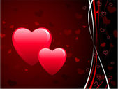 Romantic hearts Valentine's Day design background — Stock Vector