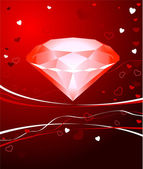 Diamond Valentine's Day design background — Vecteur