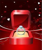 алмазный валентина дизайн фона — Cтоковый вектор
