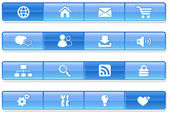 Blue Bar Internet Icons — Stock Vector