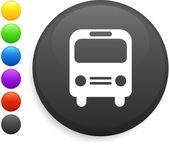 Ikona autobus na cały internet przycisk — Wektor stockowy