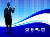 Wireless internet communication background — Stock Vector