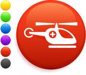 直升机一轮互联网按钮上的图标 — 图库矢量图片