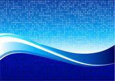 Blue wave pattern internet background — Stock Vector
