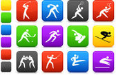 Competative and olympic sports icon collection — Stock Vector
