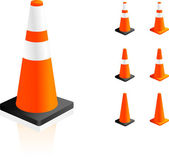 Traffic Cones — Stock Vector