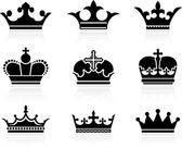 корона дизайн коллекции — Cтоковый вектор