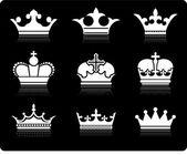 Crown design collection — Stock Vector