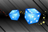 Blue Dice Background — Stock Vector