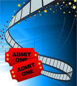 Admission Tickets with Film Strip — Stock Vector