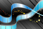 Film Reel on Black Background — Stock Vector