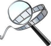 Film: a closer look — Stock Vector